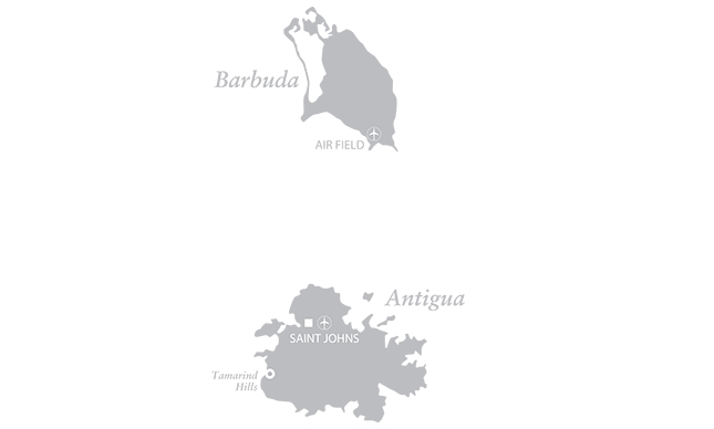 Map of Tamarind Hills, Antigua and Barbuda