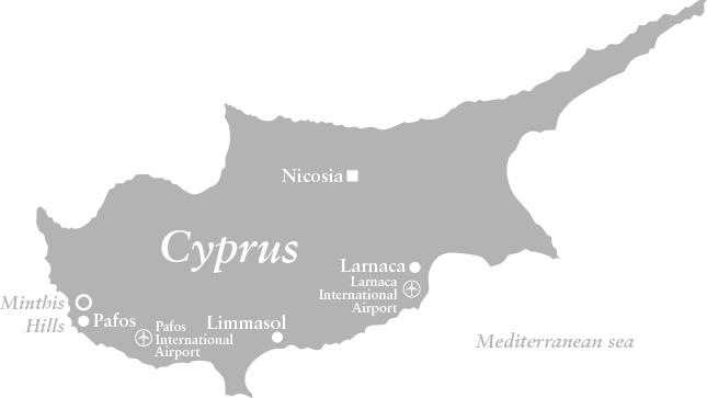 Map of Minthis Hills, Cyprus