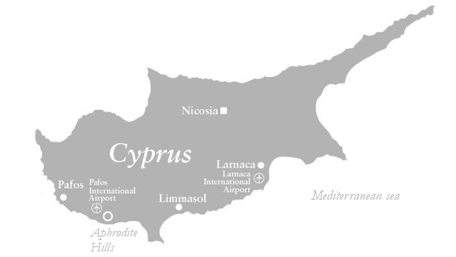 Map of Aphrodite Hills, Cyprus