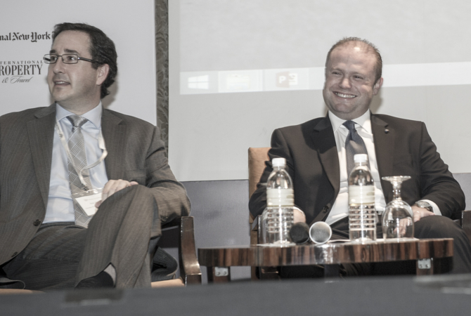 Hon. Dr. Joseph Muscat, Prime Minister of Malta and Eric G. Major, Chief Executive Officer of Henley & Partners