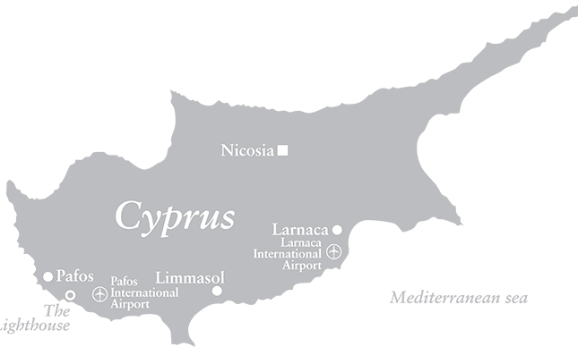 Map of The Lighthouse Complex, Cyprus