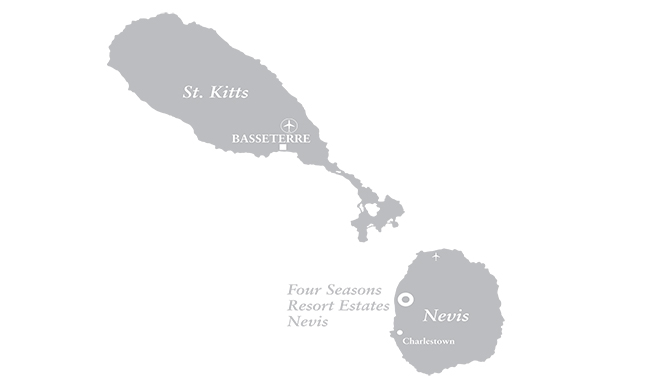Map of Four Seasons Resort Estates, St. Kitts & Nevis